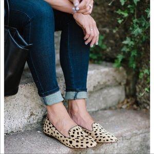 Madewell Calf Hair Teddy Animal Print Flats Loafer